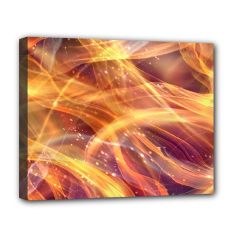 Abstract Shiny Night Lights 10 Deluxe Canvas 20  X 16   by tarastyle