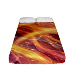 Abstract Shiny Night Lights 10 Fitted Sheet (full/ Double Size) by tarastyle