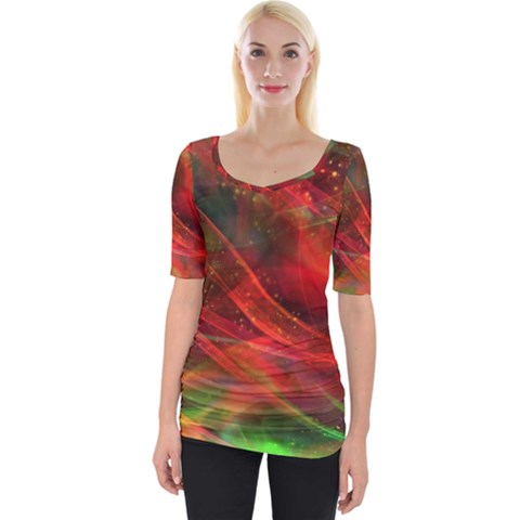 Abstract Shiny Night Lights 12 Wide Neckline Tee by tarastyle