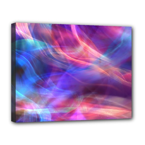 Abstract Shiny Night Lights 14 Canvas 14  X 11  by tarastyle