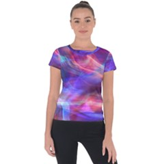 Abstract Shiny Night Lights 14 Short Sleeve Sports Top  by tarastyle