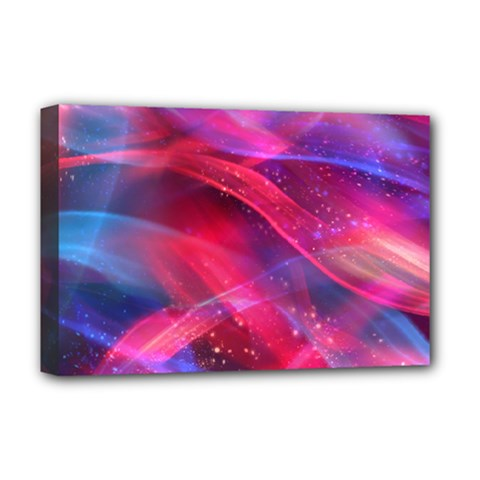Abstract Shiny Night Lights 18 Deluxe Canvas 18  X 12   by tarastyle