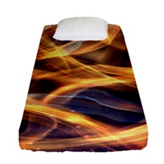 Abstract Shiny Night Lights 19 Fitted Sheet (single Size) by tarastyle