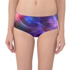 Abstract Shiny Night Lights 20 Mid Waist Bikini Bottoms by tarastyle