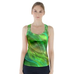 Abstract Shiny Night Lights 21 Racer Back Sports Top by tarastyle