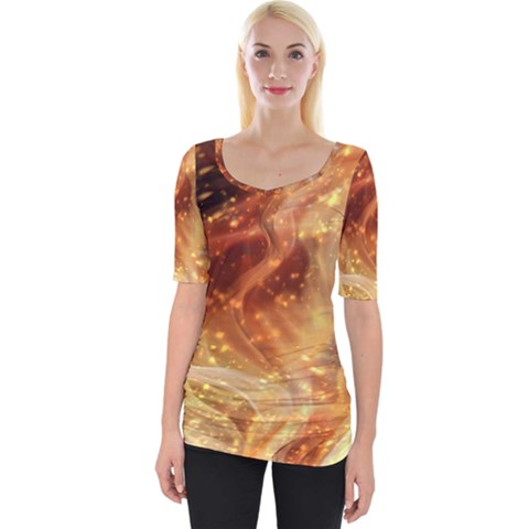 Abstract Shiny Night Lights 22 Wide Neckline Tee by tarastyle