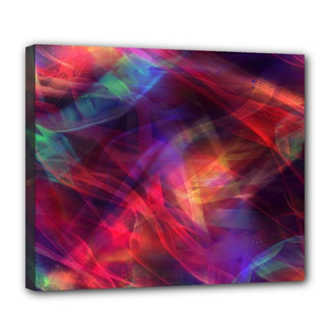 Abstract Shiny Night Lights 23 Deluxe Canvas 24  X 20   by tarastyle