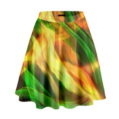 Abstract Shiny Night Lights 24 High Waist Skirt by tarastyle