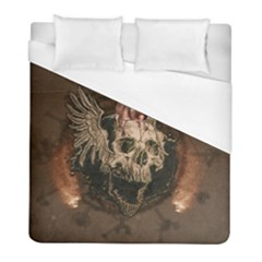 Awesome Creepy Skull With Rat And Wings Duvet Cover (full/ Double Size) by FantasyWorld7