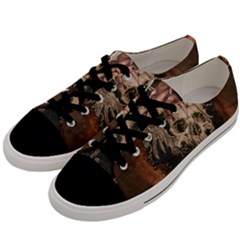 Awesome Creepy Skull With Rat And Wings Men s Low Top Canvas Sneakers by FantasyWorld7