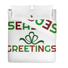 Season Greetings Duvet Cover Double Side (full/ Double Size) by Colorfulart23