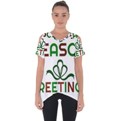 Season Greetings Cut Out Side Drop Tee