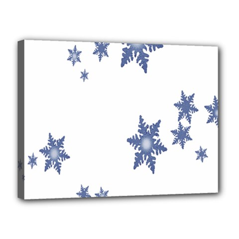 Star Snow Blue Rain Cool Canvas 16  X 12  by AnjaniArt