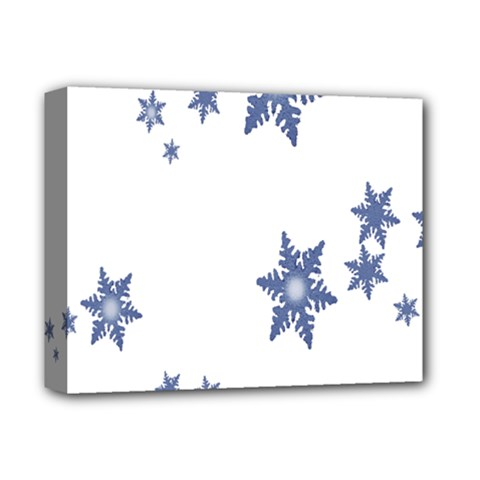 Star Snow Blue Rain Cool Deluxe Canvas 14  X 11  by AnjaniArt