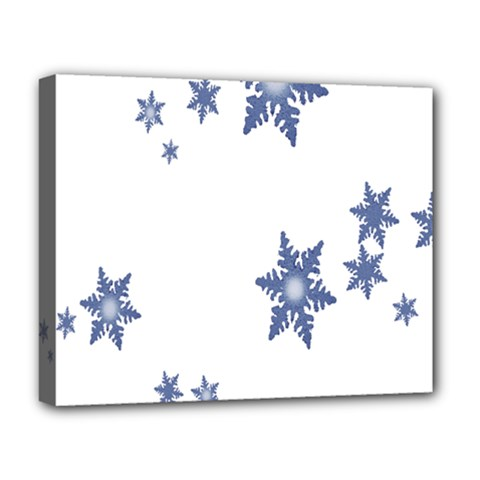Star Snow Blue Rain Cool Deluxe Canvas 20  X 16   by AnjaniArt