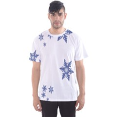 Star Snow Blue Rain Cool Men s Sports Mesh Tee by AnjaniArt