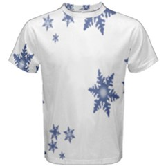 Star Snow Blue Rain Cool Men s Cotton Tee by AnjaniArt