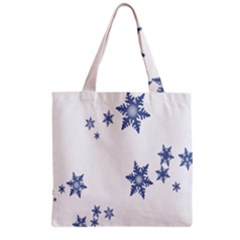 Star Snow Blue Rain Cool Grocery Tote Bag by AnjaniArt