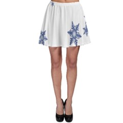Star Snow Blue Rain Cool Skater Skirt by AnjaniArt