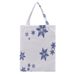Star Snow Blue Rain Cool Classic Tote Bag by AnjaniArt