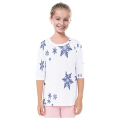 Star Snow Blue Rain Cool Kids  Quarter Sleeve Raglan Tee