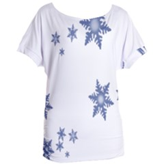 Star Snow Blue Rain Cool Women s Oversized Tee by AnjaniArt
