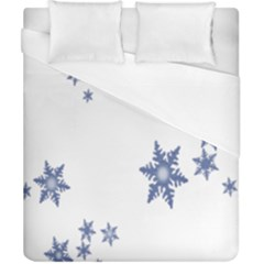 Star Snow Blue Rain Cool Duvet Cover (california King Size) by AnjaniArt
