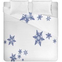 Star Snow Blue Rain Cool Duvet Cover Double Side (king Size) by AnjaniArt