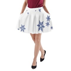 Star Snow Blue Rain Cool A Line Pocket Skirt