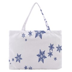 Star Snow Blue Rain Cool Zipper Medium Tote Bag by AnjaniArt