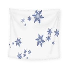 Star Snow Blue Rain Cool Square Tapestry (small)