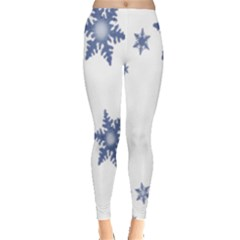 Star Snow Blue Rain Cool Leggings  by AnjaniArt