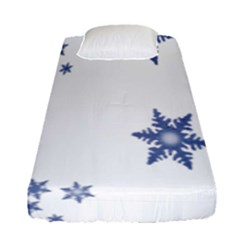 Star Snow Blue Rain Cool Fitted Sheet (single Size) by AnjaniArt