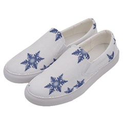 Star Snow Blue Rain Cool Men s Canvas Slip Ons by AnjaniArt
