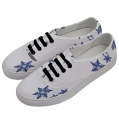 Star Snow Blue Rain Cool Men s Classic Low Top Sneakers by AnjaniArt