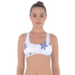 Star Snow Blue Rain Cool Got No Strings Sports Bra by AnjaniArt