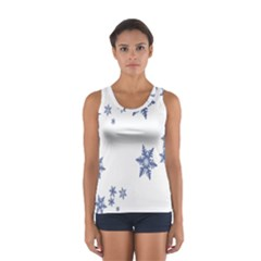 Star Snow Blue Rain Cool Sport Tank Top  by AnjaniArt