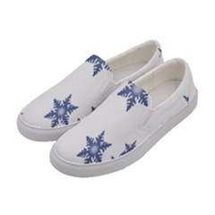 Star Snow Blue Rain Cool Women s Canvas Slip Ons by AnjaniArt