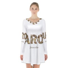Tarot Fortune Teller Long Sleeve Velvet V Neck Dress