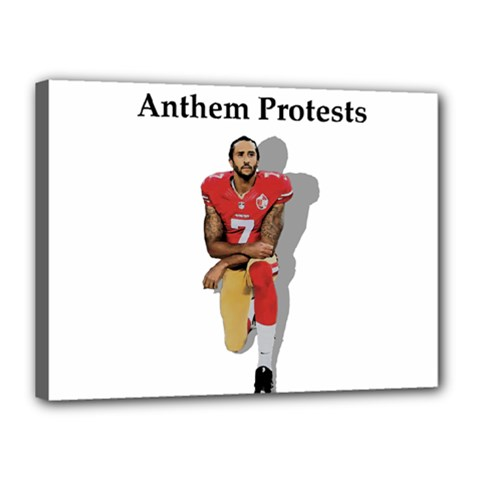 National Anthem Protest Canvas 16  X 12  by Valentinaart