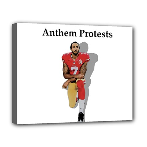 National Anthem Protest Deluxe Canvas 20  X 16