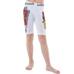 National Anthem Protest Kids  Mid Length Swim Shorts by Valentinaart