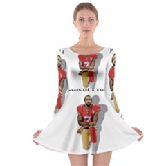 National Anthem Protest Long Sleeve Skater Dress by Valentinaart