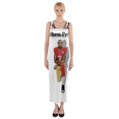National Anthem Protest Fitted Maxi Dress by Valentinaart