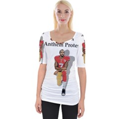 National Anthem Protest Wide Neckline Tee by Valentinaart