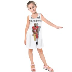 National Anthem Protest Kids  Sleeveless Dress by Valentinaart