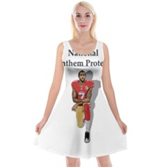 National Anthem Protest Reversible Velvet Sleeveless Dress by Valentinaart