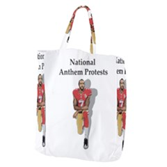 National Anthem Protest Giant Grocery Zipper Tote by Valentinaart