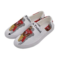 National Anthem Protest Women s Canvas Slip Ons by Valentinaart