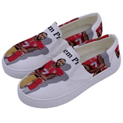 National Anthem Protest Kids  Canvas Slip Ons by Valentinaart